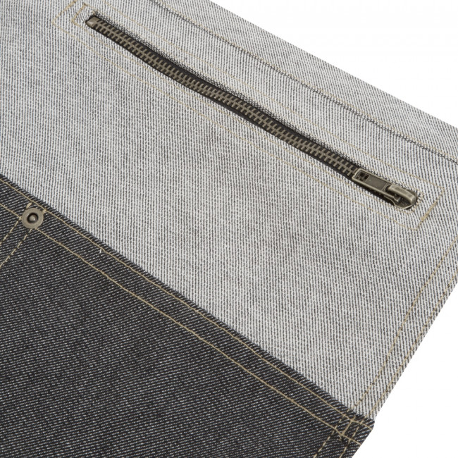 Short Two Tone Denim Waist Apron