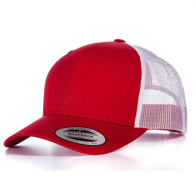 Red/White Retro Trucker Cap