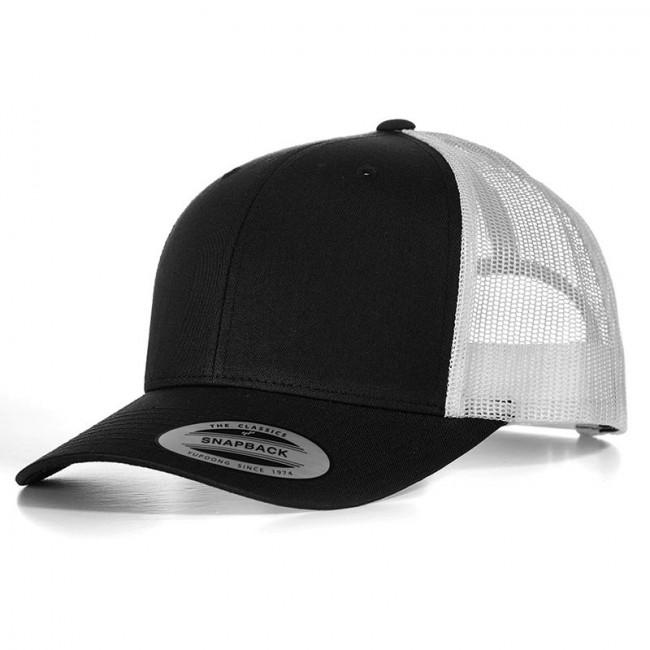 Black/White Retro Trucker Cap