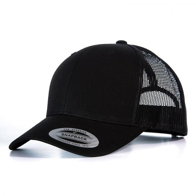 Black Retro Trucker Cap