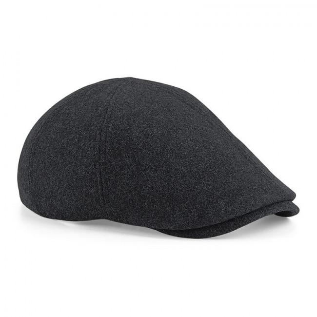 Charcoal Melton Wool Cap