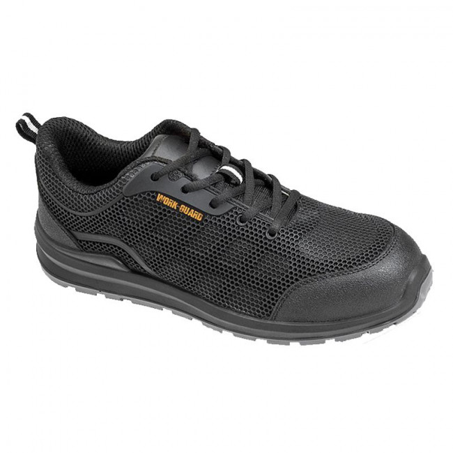 Black Steel Toe Safety Trainer