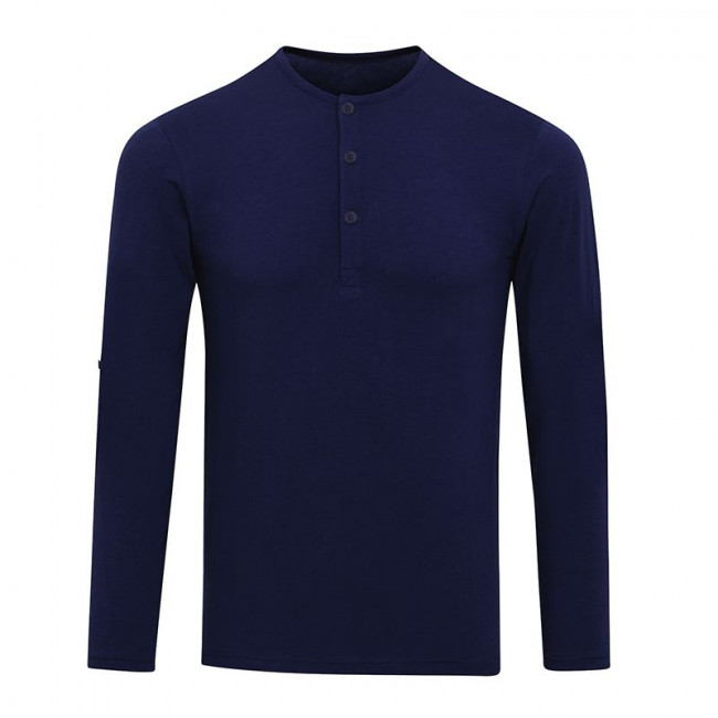 Mens Indigo Long John Roll Sleeve T-Shirt