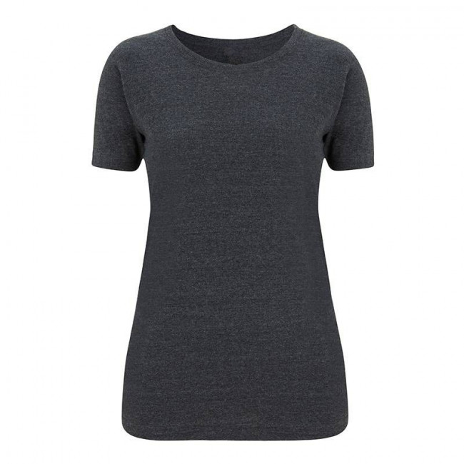 Womens Melange Black T-Shirt