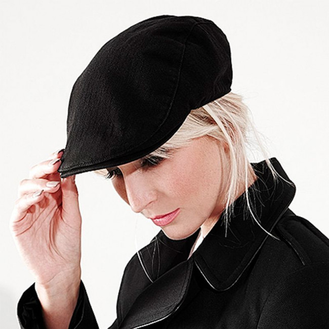 Black Vintage Flat Cap