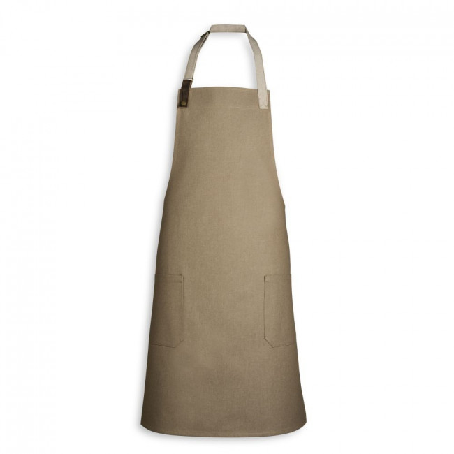 Biscuit Adjustable Apron w/ Leather Detailing