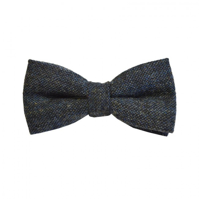 Blue Flecked Tweed Bow Tie
