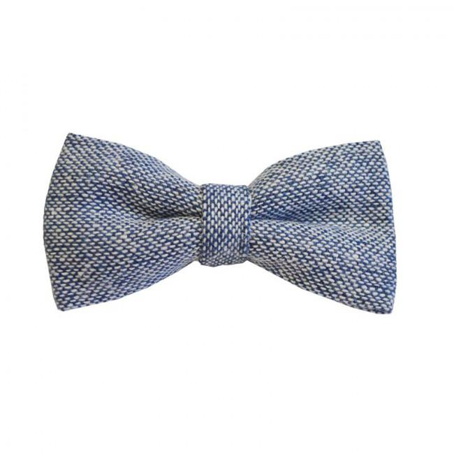 Blue Semi-Plain Bow Tie