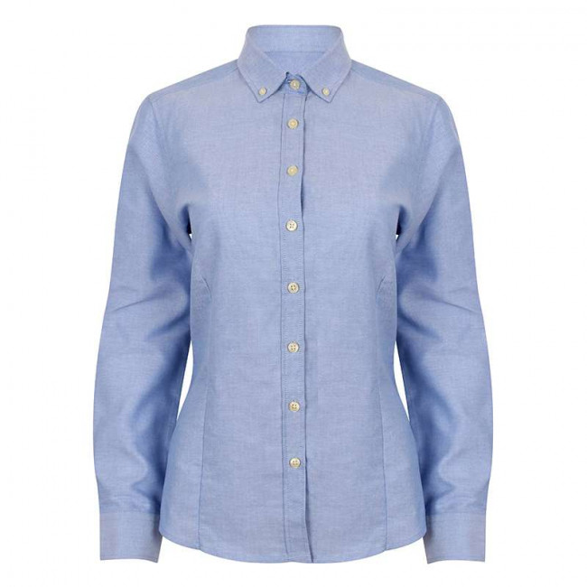 Blue Oxford Blouse