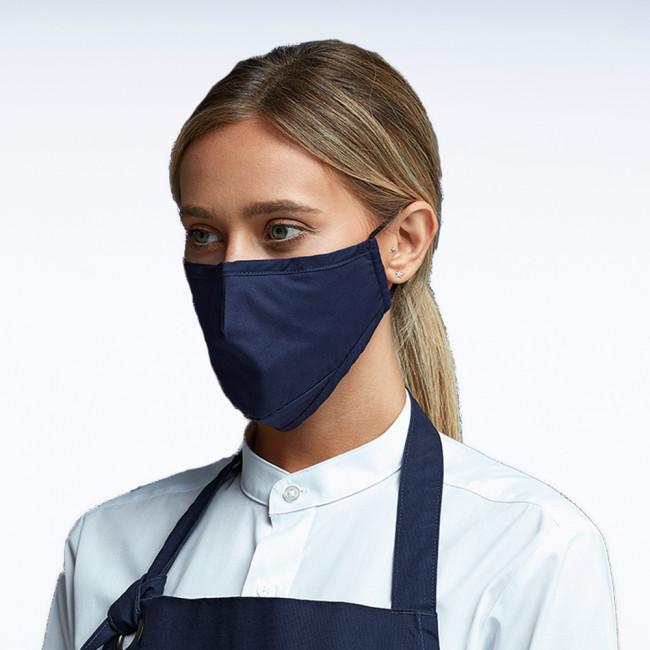 Navy Triple Layer Fabric Mask