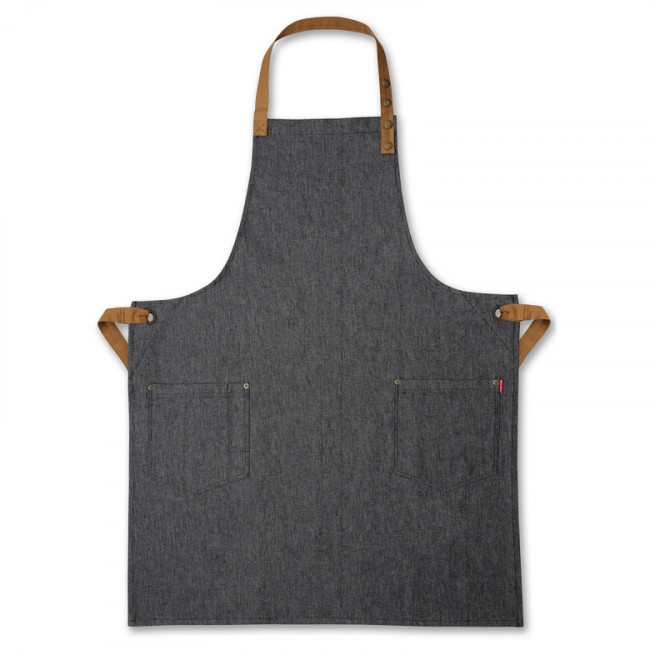 Contrast Black Denim Bib Apron