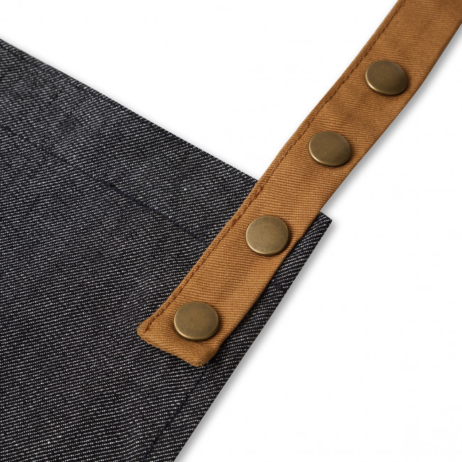 Contrast Black Denim Apron In A Tin