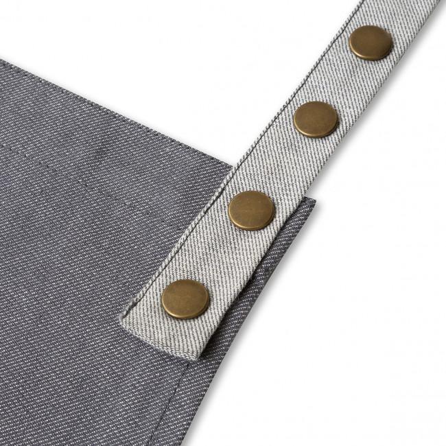 Contrast Grey Denim Apron In A Tin
