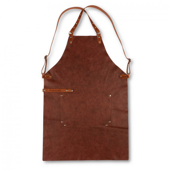 Dark Brown Back Strap Leather Apron