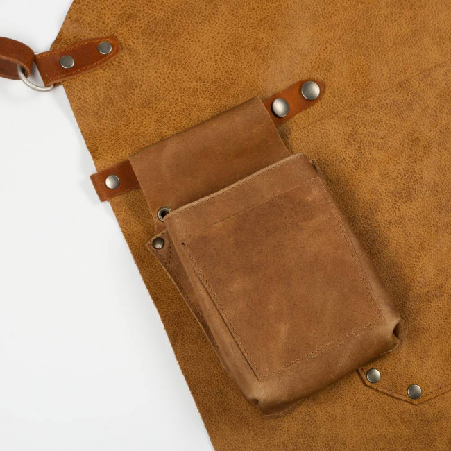 Light Brown Back Strap Leather Apron