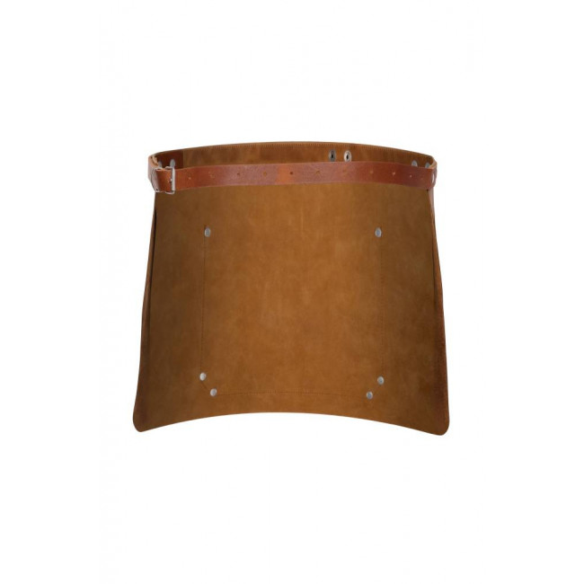 Light Brown Short Waist Leather Apron