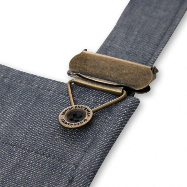 Grey Denim Apron In A Tin