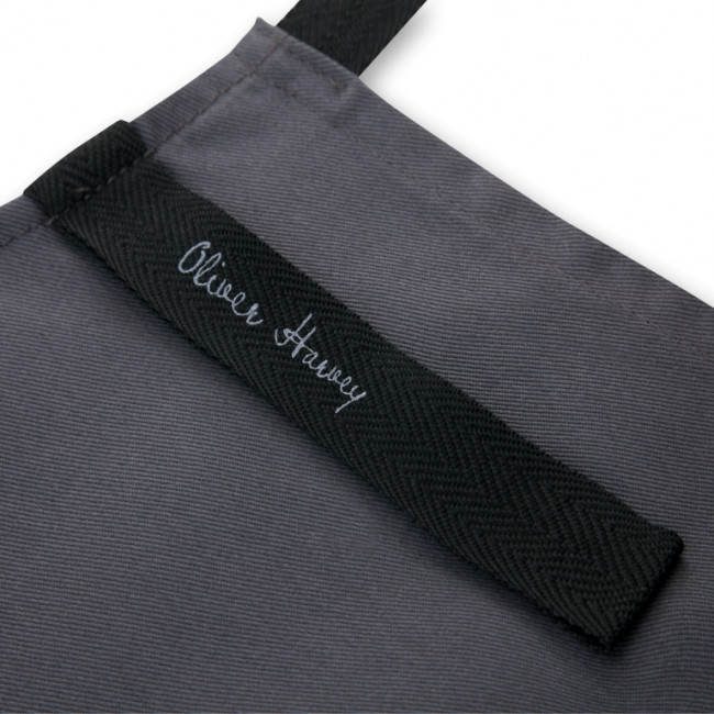 Slate Grey Cotton Apron In A Tin