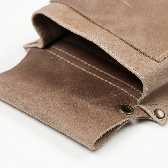 Taupe Leather Pouch
