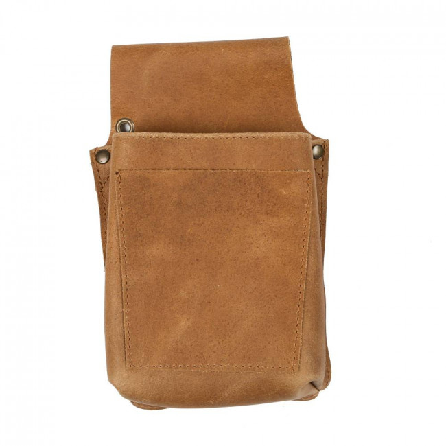 Light Brown Leather Pouch