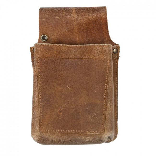 Dark Brown Leather Pouch