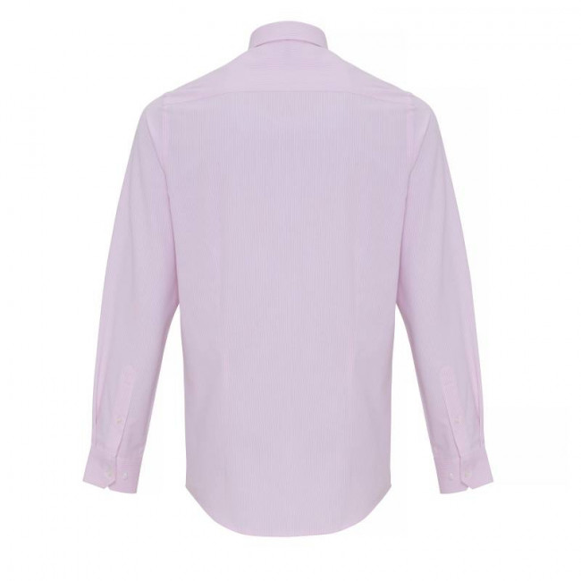 Mens White/Pink Oxford Stripe Shirt