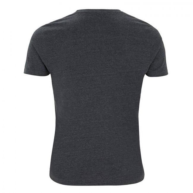 Mens Melange Black T-Shirt