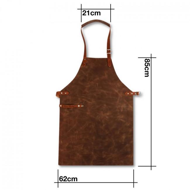 Dark Brown Full Leather Apron