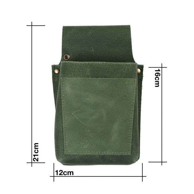 Bottle Green Leather Pouch
