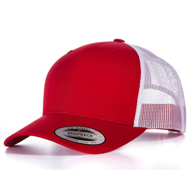 Red/White Retro Trucker Cap