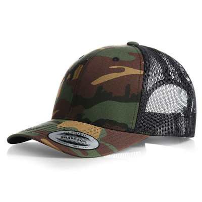 Green Camo Retro Trucker Cap