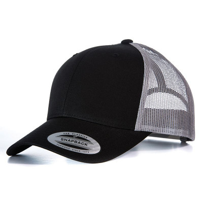 Black/Grey Retro Trucker Cap