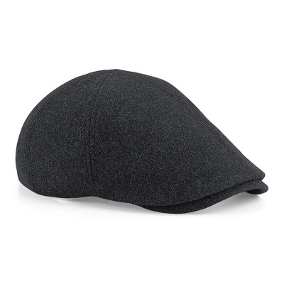 Charcoal Melton Wool Cap
