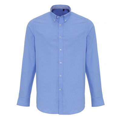 Mens Light Blue Oxford Stripe Shirt