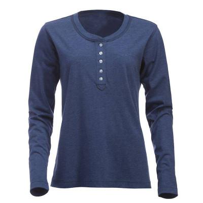 Womens Blue Melange T-Shirt