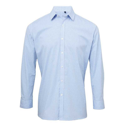 Light Blue/White Gingham Shirt