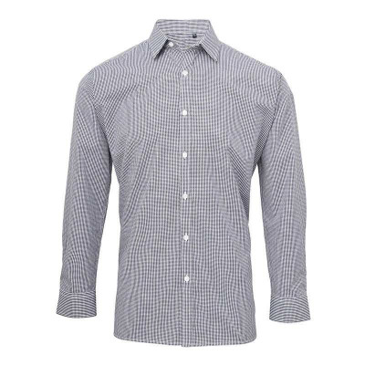 Navy/White Gingham Shirt