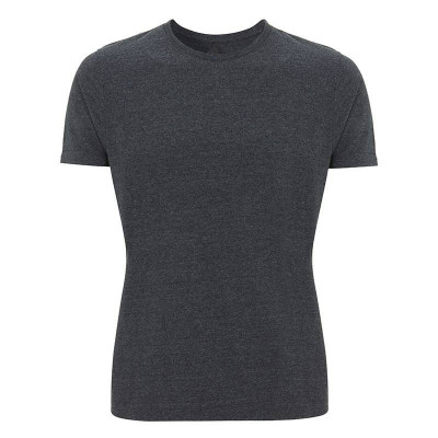 Mens Melange Black T-Shirt