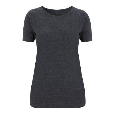 Womens Melange Black T-Shirt