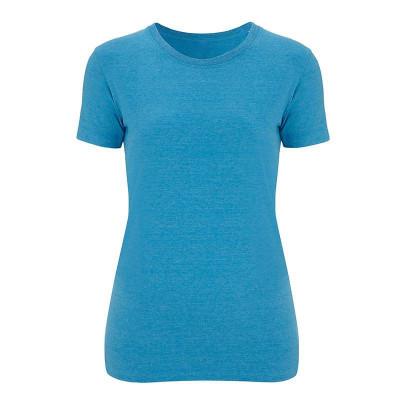 Womens Melange Mid Blue T-Shirt