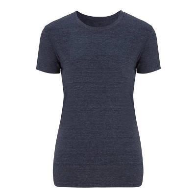 Womens Melange Navy T-Shirt