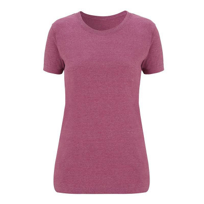 Womens Melange Plum T-Shirt