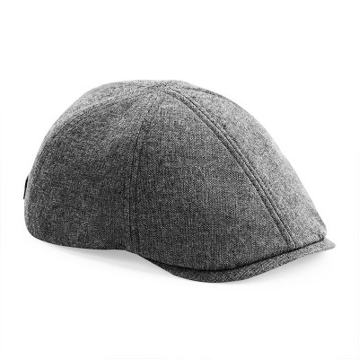 Grey Linen Summer Gatsby Cap