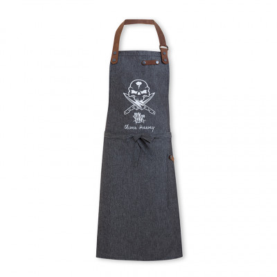 OH vs Fat Punk Studio  - Black Bib Apron Denim/Leather