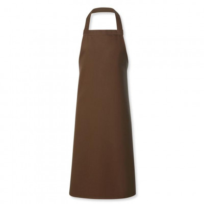 Cocoa Brown Stud Halter Apron