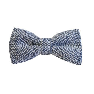 Blue Semi-Plain Bow Tie