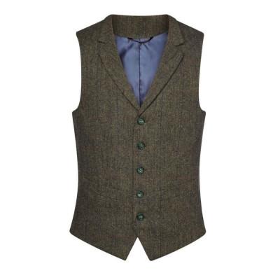 Men's Green/Blue Check Waistcoat