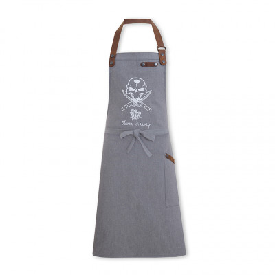 OH vs Fat Punk Studio - Grey Bib Apron Denim/Leather
