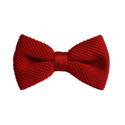 Red Knitted Bow Tie
