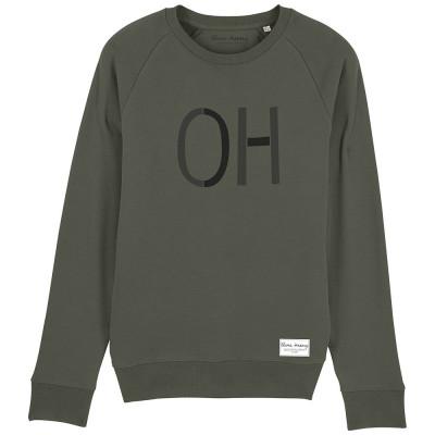 Unisex Organic Crew Neck Sweatshirt – Khaki
